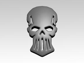 Metal Skull Shoulder Icons x50 in Smooth Fine Detail Plastic