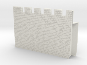 HOF034  - Castle wall 4 in White Natural Versatile Plastic