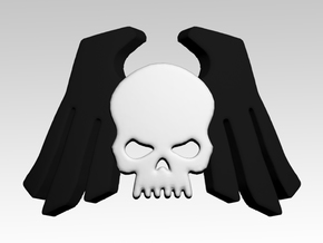 Skull & Wings 3 Shoulder Icons x50 in Smooth Fine Detail Plastic