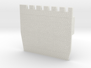 HOF032  - Castle wall 2 in White Natural Versatile Plastic