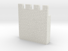HOF035  - Castle wall 5 in White Natural Versatile Plastic