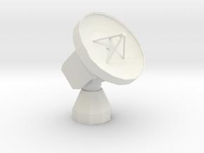 IRAM 30m Millimeter Radio Telescope in White Natural Versatile Plastic: 6mm