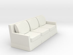 1/43 Scale Couch N, HO, O Scale availble in White Natural Versatile Plastic: 1:48 - O