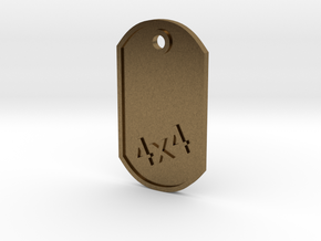 MILITARY DOG TAG 4X4 in Natural Bronze