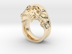 Vampiro Skull Ring in 14K Yellow Gold