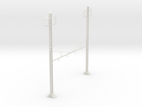 CATENARY PRR 4 TRACK 2PHASE N SCALE  in White Natural Versatile Plastic
