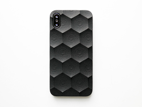iPhone X case_Hexagon in Black Premium Strong & Flexible