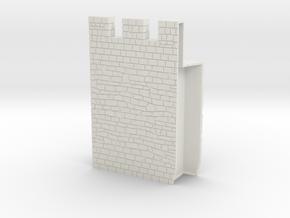 HOF036  - Castle wall 6 in White Natural Versatile Plastic