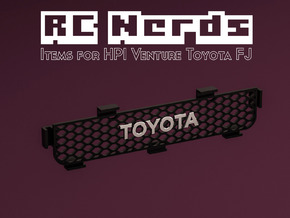RCN097 Grille part for HPI Venture Toyota FJ  in Smooth Fine Detail Plastic