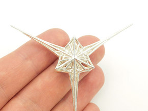 Angelic Star - Flower of Life based pendant in Polished Silver