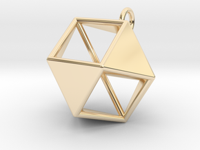Vector Equilibrium Hanger in 14k Gold Plated Brass