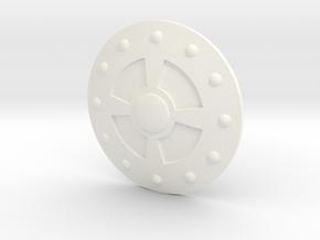 VintageSizeAlcalaShield in White Processed Versatile Plastic