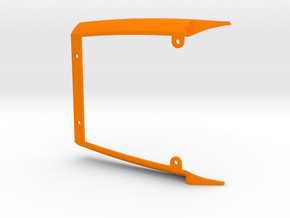 PSSX00402 air tunnel for Scalextric Opel Vectra DT in Orange Processed Versatile Plastic
