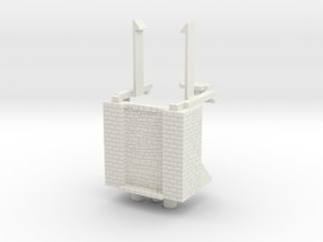 HOF023 - Base of the castle gate tower in White Natural Versatile Plastic