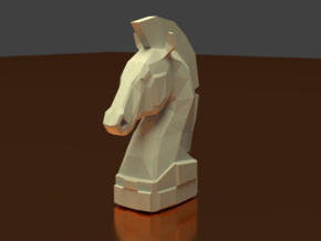 chess knight in White Natural Versatile Plastic