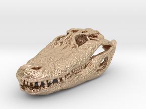 Alligator Skull pendant in 14k Rose Gold Plated Brass