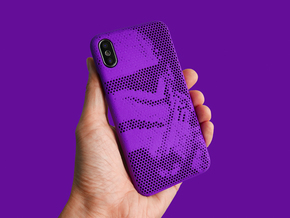 iPhone X case_Stormtroopers in Purple Strong & Flexible Polished