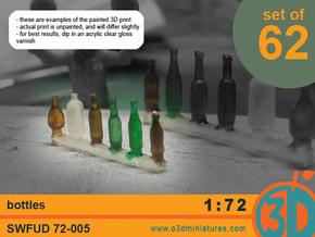 Bottles 1/72 scale SWFUD-72-005 in Smooth Fine Detail Plastic