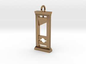 Guillotine Pendant in Raw Brass