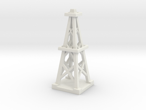 2 Inch Oil Derrick in White Natural Versatile Plastic