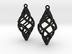 Capriccio Earrings in Black Premium Versatile Plastic