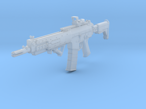 1/10th AK5Cgun with sight and angled grip in Smooth Fine Detail Plastic
