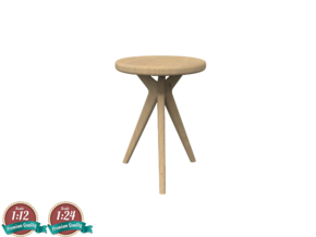 Miniature Tree Table - Tonin Casa in White Natural Versatile Plastic: 1:12