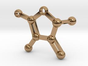 furaneol - keychain in Polished Brass