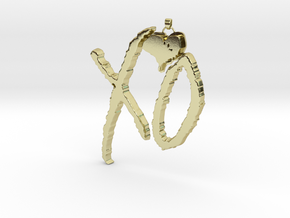 XO Pendant in 18k Gold Plated Brass