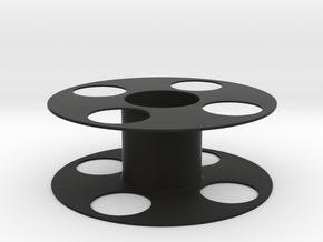 3D printer spool in Black Natural Versatile Plastic: Medium