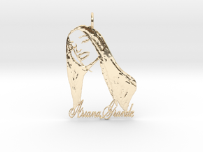 Ariana Grande Pendant - Ariana Grande Fan Pendant  in 14K Yellow Gold