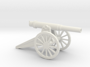152mm 120 Pood M1877 Siege Gun 1/72  in White Natural Versatile Plastic
