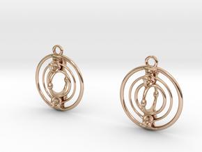 Cmix earrings in 14k Rose Gold Plated Brass
