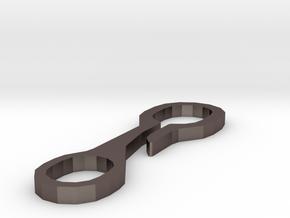 Schlüsselbund-Hosenhaken in Polished Bronzed Silver Steel