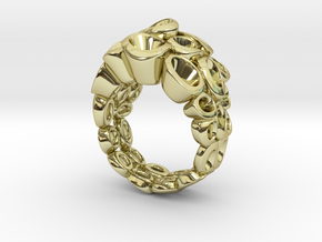 Molecular Ring (From $99) in 18k Gold Plated Brass: 7 / 54