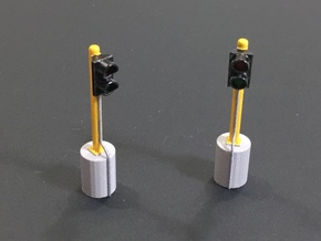 1/64 Stop Go lights in Smooth Fine Detail Plastic