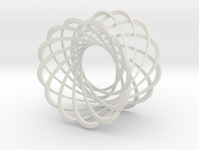 Mobius strips, 12 intertwined in White Natural Versatile Plastic