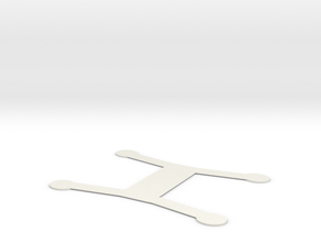 fpv drone base plate in White Natural Versatile Plastic