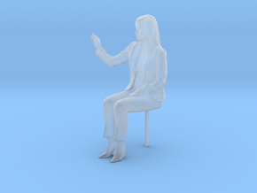 G Scale woman sitting in Smooth Fine Detail Plastic