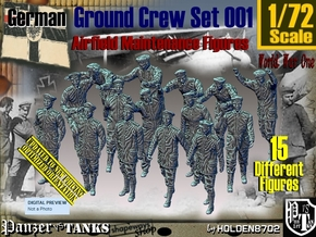 1/72 German Ground Crew Set001 in Smooth Fine Detail Plastic