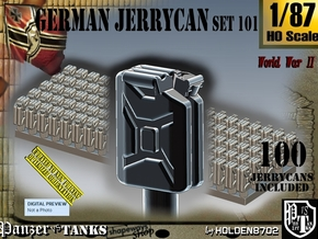 1/87 German Jerrycans Set101 in Smooth Fine Detail Plastic