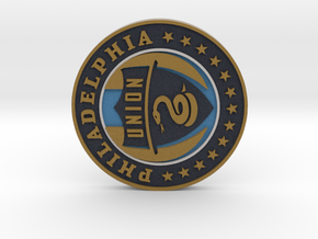 Philadelphia Union Soccer Logo 1 inch in Full Color Sandstone