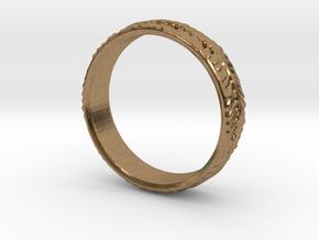 leaf ring in Natural Brass: 4.5 / 47.75