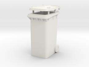 Trash bin Ver03. 1:24 Scale  in White Natural Versatile Plastic