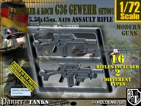 1/72 HK G-36 Rifle Set001 in Smoothest Fine Detail Plastic