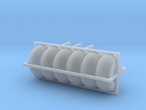 1/64 Balloon tires S scale in Smooth Fine Detail Plastic