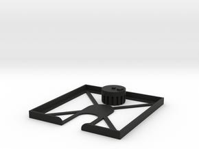 "3.5"" Floppy Disk Cleaner in Black Natural Versatile Plastic"