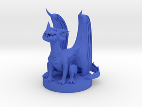 Blue Dragon Wyrmlng in Blue Processed Versatile Plastic