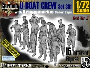 1/72 German U-Boot Crew Set301 in Smooth Fine Detail Plastic