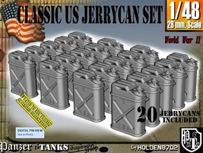 1/48 US Jerrycan x20 Set101 in Smooth Fine Detail Plastic